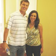 Michele with chastity supporter Philip Rivers, Quarterback for the San Diego Chargers.